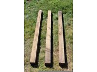Treated timber fence posts 100 x 100mm @ 1.8m. Great for Fencing Decking Garden Gates Good condition