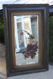 Victorian Hand Painted mirror