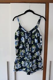 Gilly Hicks Navy floral Playsuit - size S