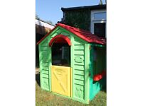 Playhouse with kitchen and table