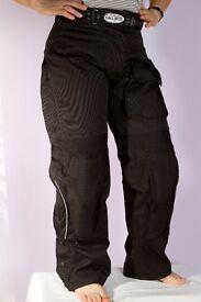 Ladies Joe Rocket Ballistic waterproof motorcycle trousers.