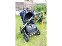 Classic Bugaboo Cameleon with rare Denim cover plus many extras