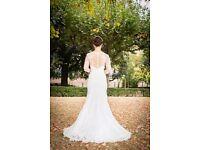 UNIQUE STUNNING ELEGANT WEDDING DRESS –tailor made– Size 10