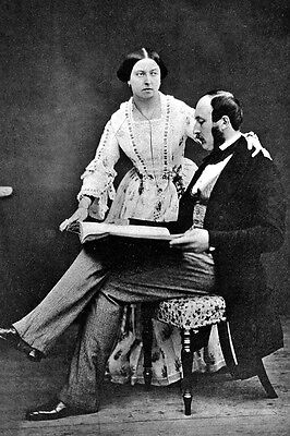 New 5x7 Photo: Prince Albert and Queen Victoria, Monarch of the United Kingdom