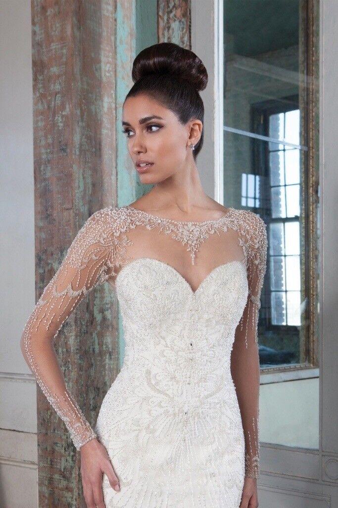 STUNNING Justin Alexander 9817 Size 6 Wedding Dress BNWT