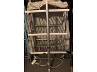 Great condition Lakeland Dry:Soon 3-Tier Heated Airer with Quick Dry Cover