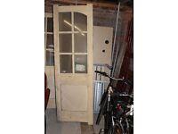 Wooden French doors - unused
