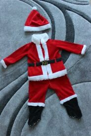 Boys 12 - 18 months Father Christmas Suit & Hat