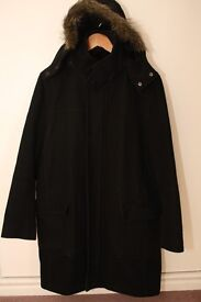 Mens Reforma Heavy Wool Black Coat - Size M