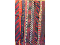 54 Ties FOR SALE. From the 1960's,70's, 80's and 90's. Mixed fabrics. Used. Good condition