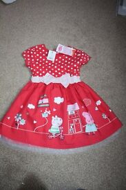 Peppa pig dress - brand new with tags