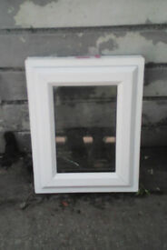 White upvc opening window, with clear glass