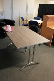 Zebrano Rectangular Folding Table with Chrome Legs