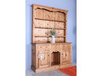 DELIVERY OPTIONS - RUSTIC SOLID PINE WELSH DRESSER WAXED ALL TONGUE AND GROOVE