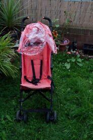 Mothercare salmon pink pram with Raincover