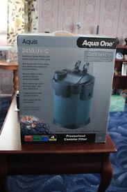 aqua one UV-C 2450 external filter with UV