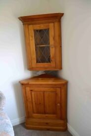 Corner Display Cabinet. Two Piece