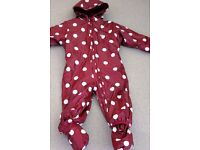 MUDDY PUDDLES WATERPROOF SUIT - 18 to 24 months