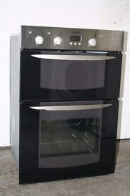 Indesit Built-In Double Oven/Cooker Digital Display Excellent Condition 12 Month Warranty