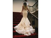 Open Back Mermaid Wedding Dress Like Inbal Dror VIP