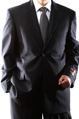 MENS 2 BUTTON EXTRA FINE BLACK DRESS SUIT 46S, STYLE# PL-60512N-4003N