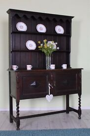 OLD OAK 4 FT DRESSER SHABBY CHIC PAINTING PROJECT - CAN COURIER