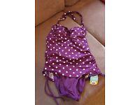Sainsburys Halterneck Swimming Costume size 8