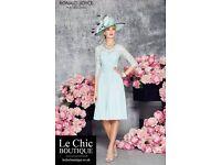 VENI INFANTINO for RONALD JOYCE. Beautiful Dress & Chiffon Coat in Aqua, size 18.