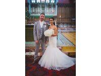 Mori Lee Fishtail Wedding Dress size 6-8 PerfectCondition