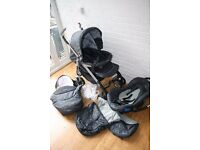 Silver Cross 3D pram travel system with car seat 3 in Grey Charcoal *CAN POST*