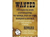 SHOPPING CENTRE MARKETING AND DOOR2DOOR CANVASSERS MANCHESTER URGENTLY WANTED. EARN £100+ PER DAY