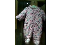 Girl's Debenhams all in one/pramsuit 3-6 mths