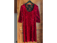 Red velour dress Atmosphere size S