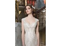 Designer Wedding Dress - Justin Alexander 8725 adjusted for size 12