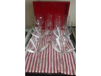 12 clear drinking glasses REDUCED!!!