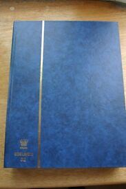 Edelweis 32 page stock-book. BLUE. Empty.