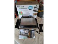 new in box Salter EK2384 Marble Collection 2 in 1 Ceramic Fold-Out Health Grill and Panini Maker