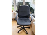 Black Faux Leather Swivel Office Chair