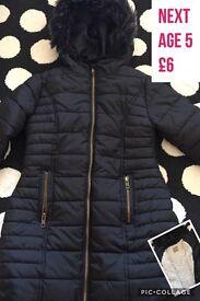 Girls next coat 5y
