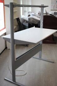 Preowned White Ikea Workshop Bench / Computer office Desk With Shelf