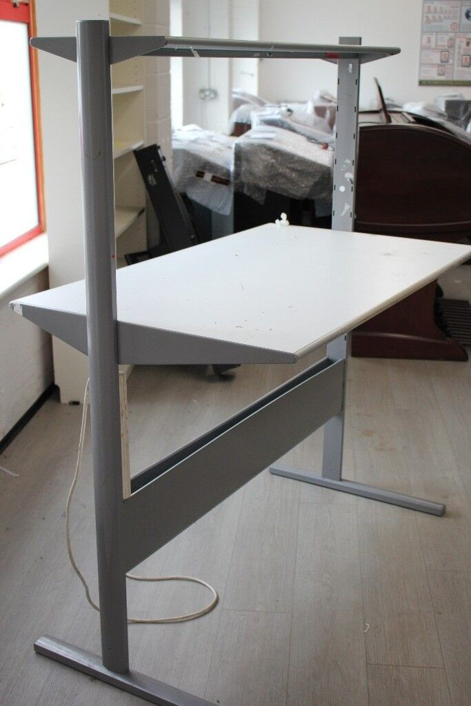 Preowned White Ikea Work Bench Computer Office Desk With Shelf