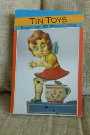 Vintage Book of 30 Different Postcards of Tin Toys by Magna Books 1994,see Photo Selection, Histon