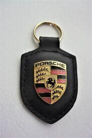 Genuine Porsche Leather Key Fob (new)