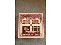 BrainbustingPuzzles: set of 4 wooden puzzles