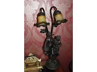 Vintage style Resin and metal table lamp
