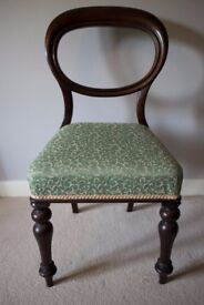 Antique Victorian Balloon backed chair
