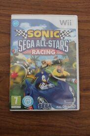 Nintendo wii Sonic and Sega All Stars Racing