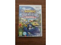 Nintendo wii Sonic and Sega All Stars Racing