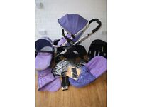 iCandy Peach 2 Parma Violet pram travel system 3 in 1 ***can post***