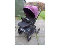 Purple Joie Chrome buggy pushchair
